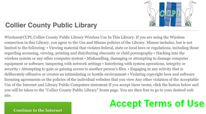 How to connect to Collier County Public Library's Wi-Fi on an iPad