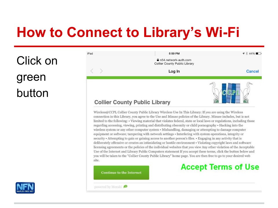 How to Connect to Library's Wi-Fi